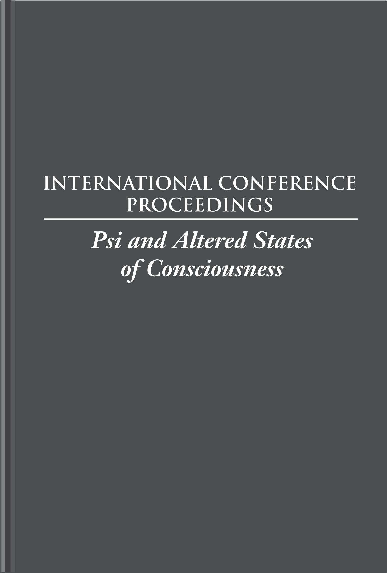 Psi and Altered States of Consciousness